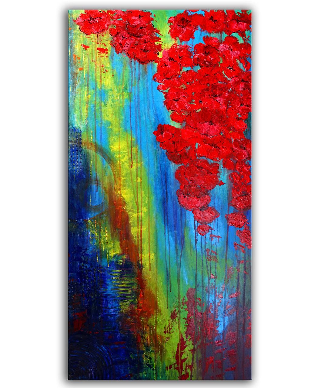 Wasserbluten Blumen Malerei Blumenbild Blumen Gemalde Blumen Malerei Malen Blumen Gemalde Malerei Von Burgstallers Art On Kunstnet