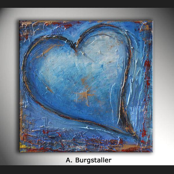 Muttertag, Abstrakte gemälde, Acrylmalerei, Herz, Handgemaltes, Partner