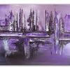 Abstrakte malerei, Acrylmalerei, Violett, Lila