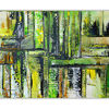 Querformat, Wandbild abstrakt, Gelb, Abstrakte kunst
