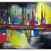 Gelb, Acrylmalerei, Gemälde, Abstrakt