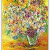 Acrylmalerei, Blumenstrauß, Gemälde, Lilien