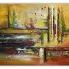 Gelb grün rot, Acrylmalerei, Malen, Wandbild
