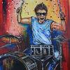 Schlagzeug, Malen, Acrylmalerei, Musiker