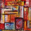 Acrylmalerei, Wandbild abstrakt, Bunt, Malerei