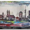 Acrylmalerei, München, Gemälde, Skyline