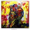 Gemälde, Bulle, Acrylmalerei, Tiere