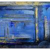 Unter wasser stadt, Abstrakte gemälde, Wandbild, Acrylmalerei