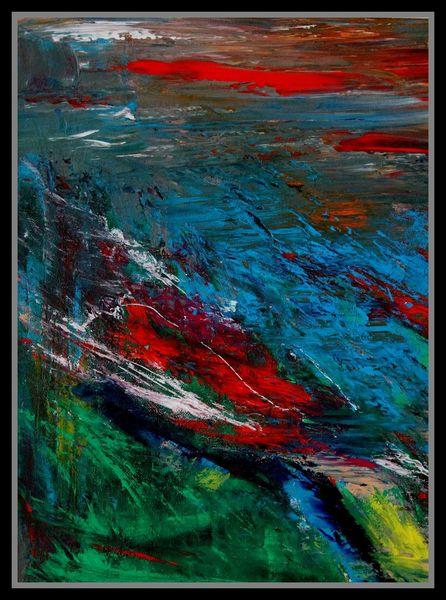 Abstrakt, Ölmalerei, Malerei, Landschaft