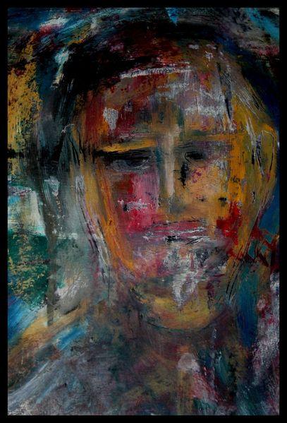 Ölmalerei, Acrylmalerei, Kalk, Portrait, Mischtechnik, Malerei