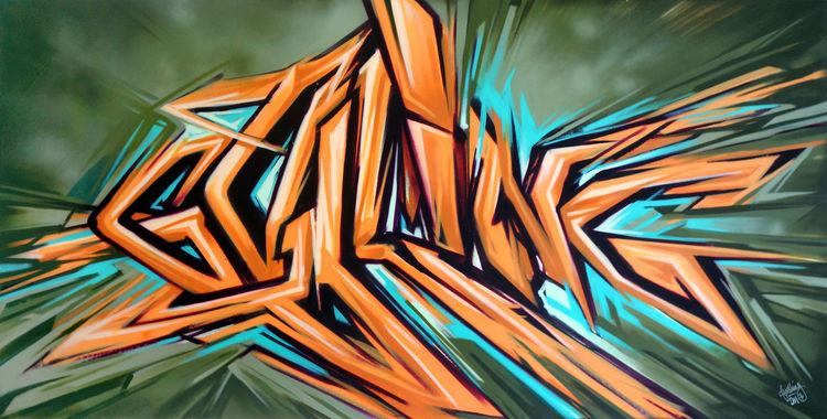 Calligraffiti, Graffiti, Kalligrafie, Streetart, Godling, Street art