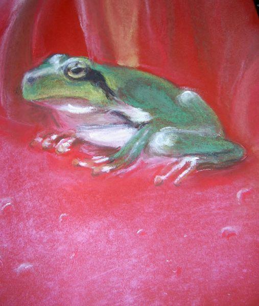 Frosch, Pastellmalerei, Zeichnungen