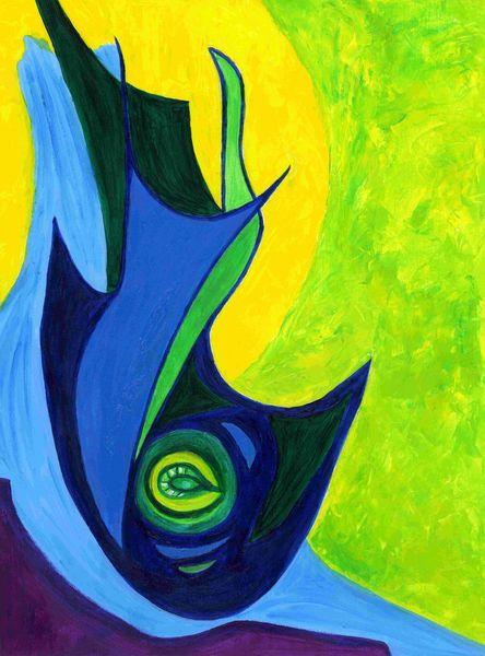 Farben, Formen, Hellblau, Struktur, Blau, Acrylfarben