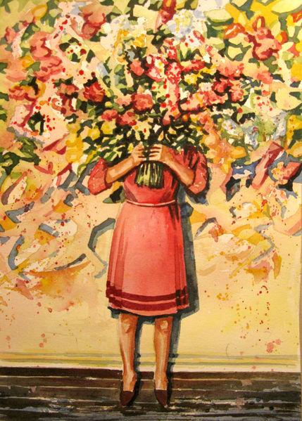 Pflanzen, Aquarellmalerei, Strauß, Blumen, Aquarell, Blumenstrauß