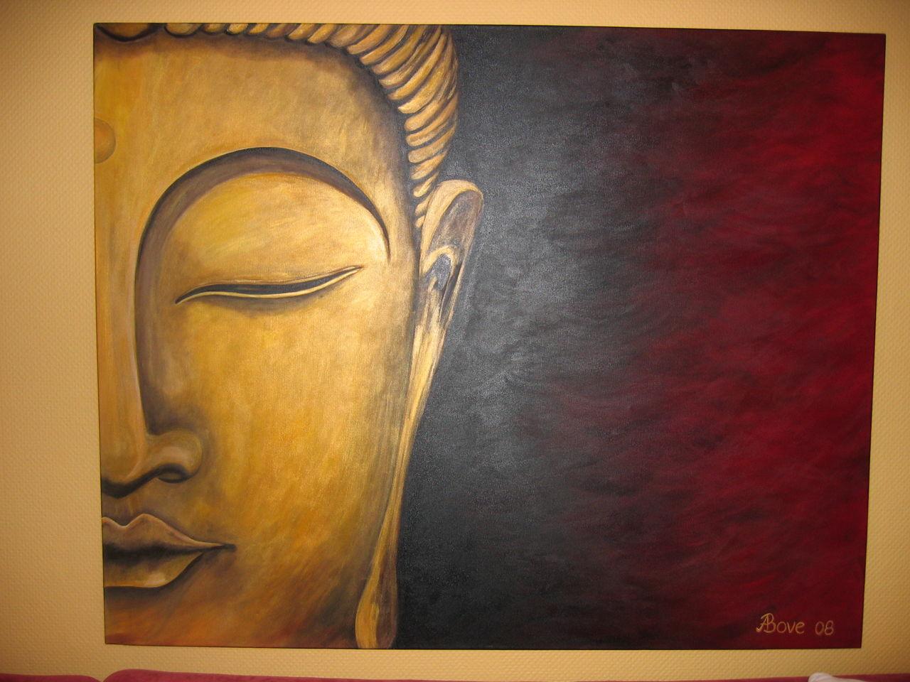 half buddha bild kunst von alexpueppi bei kunstnet. Black Bedroom Furniture Sets. Home Design Ideas
