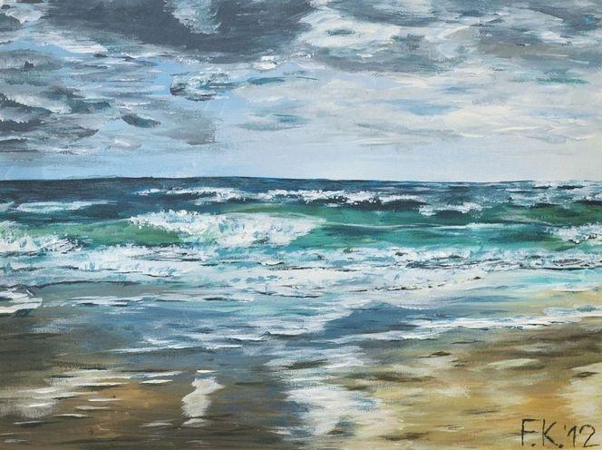 Meer, Wasser, Urlaub, Nordsee, Strand, Brandung