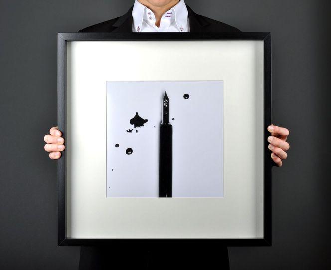 Schrift, Füller, Füllfederhalter, Tusche, Klecksen, Schreiben