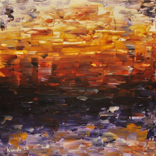 Gelb, Sonnenuntergang, Acrylmalerei, Farben, Orange, Malerei