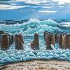Sturm, Traumstrand, Nordsee, Acrylmalerei