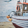 Nordsee, Schiff, Acrylmalerei, Strand