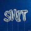 Ballon, Blau, Typografie, Party