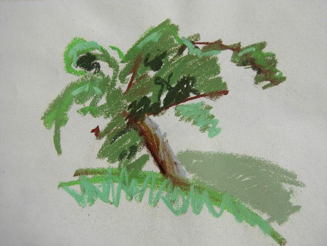 Natur, Landschaft, Baum, Malerei, Pflanzen