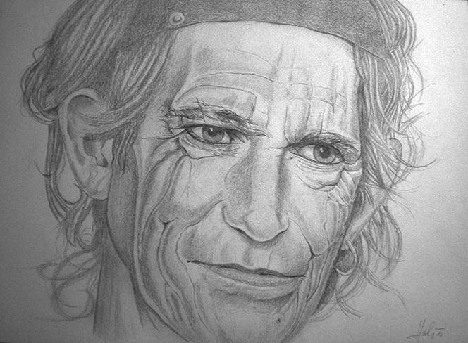 Zeichnungen, Portrait, Rolling