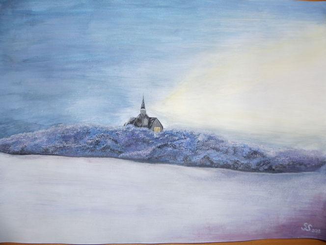 Schnee, Kälte, Landschaft, Malerei