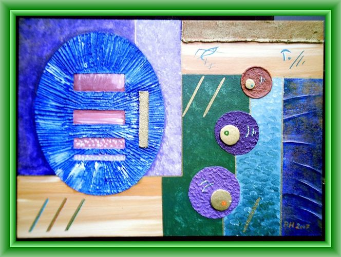 Malerei, Gemälde, Planet