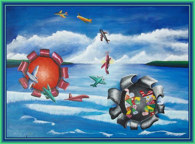Malerei, Gemälde, Bucht