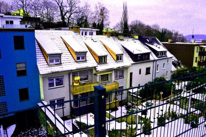 Winter, Vorstadt2, Landschaft, Haus, Schnee, Fotografie