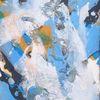 Acrylmalerei, Schwarz, Marmormehl, Weiß