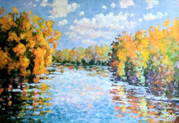 Am see, Bunt, Modern, Natur, See, Fluss