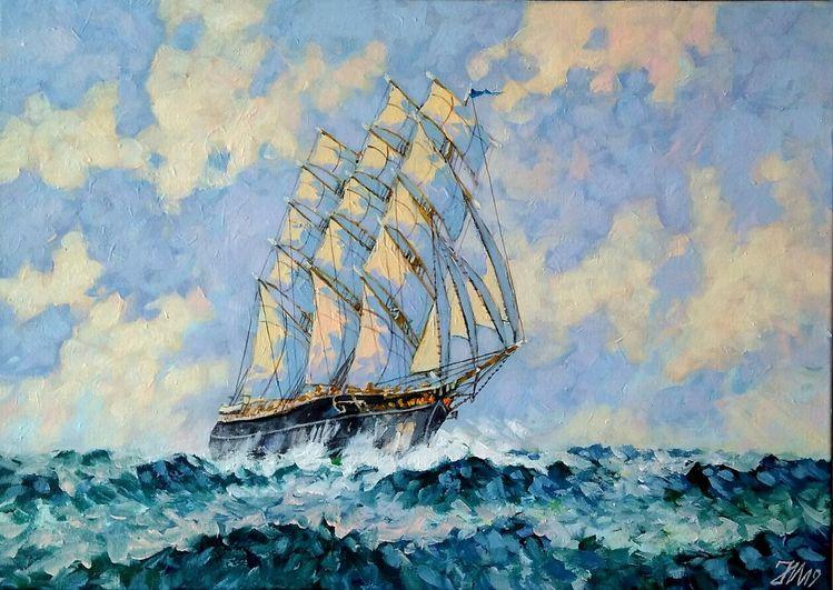 Segelschiff, Malerei,