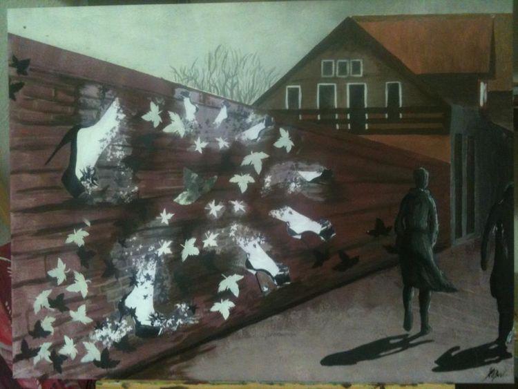 Straße, Street art, Malerei, Schau,
