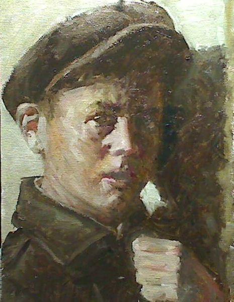 Prima, Alla, Portrait, Ölmalerei, Malerei