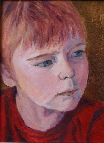 Malerei, Kinderportrait, Portrait, Kleiner junge, Impressionismus