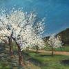 Frühling, Landschaft, Blüte, Malerei