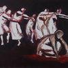 dancers 1 - tänzer,dancers,malerei,expressiv,painting,people,menschen,tanz,ausdruckstanz