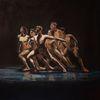 Ausdruckstanz, Tänzer, Ölmalerei, Tänzerinnen