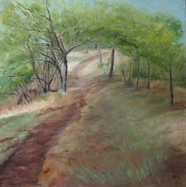Natur, Baum, Frühling, Landschaft, Malerei