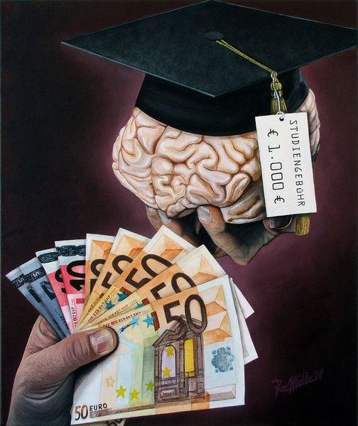 Geld, Gebühr, Hand, Bildung, Gehirn, Examen
