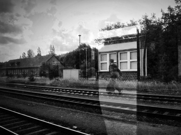 Sbahn, Schwarzweiß, Berlin, Spiegelung, Schiene, Bahnhof