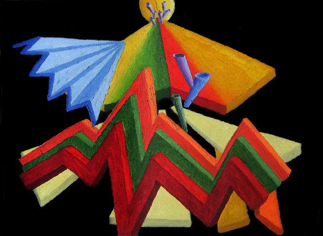 Abstrakt, Synästhesie, Ölfarben, Malerei, Ausstellung