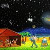 Astronaut, Weihnachten, Hütte, Krippe