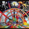 Acrylmalerei, Enterprise, Regenbogen, Kristall