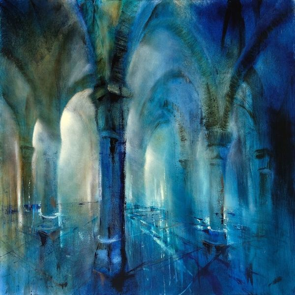 Säulenhalle, Säule, Architektur, Halle, Saal, Malerei