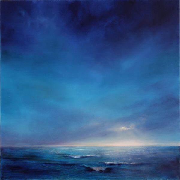 Himmel, Licht, Wasser, Horizont, Blau, Lichtstreif