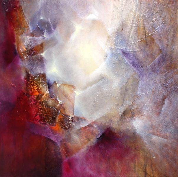 Bild licht leuchten abstrakt malerei von annette for Licht leuchten
