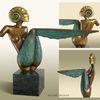 Ammonit, Bronze, Muschel, Skulptur